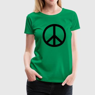 Peace Sign Filled Black - Women's Premium T-Shirt