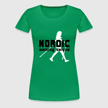 Nordic Walking Deluxe - Frauen Premium T-Shirt