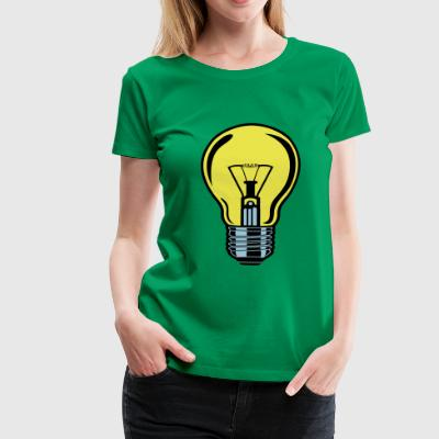 2541614 134868035 glowing bulb - Women's Premium T-Shirt