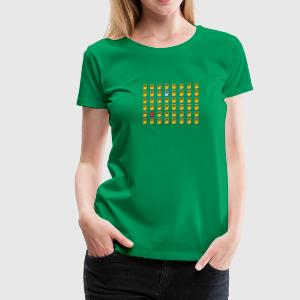 8 Bit Retro Game Boy Emojis - Frauen Premium T-Shirt