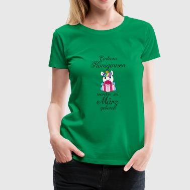 Unicorn queens are born in March - Women's Premium T-Shirt