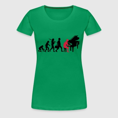 Piano Music Evolution - T-shirt Premium Femme