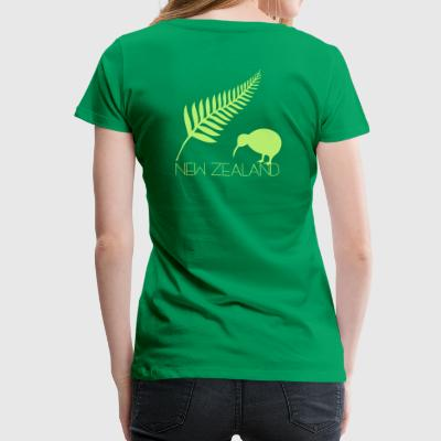 New Zealand Fern und Kiwi - Frauen Premium T-Shirt