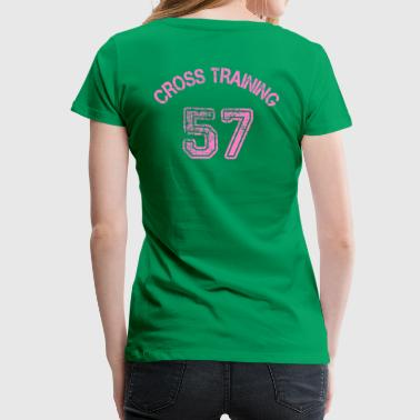 04 - Visuele back - Cross training 57 - Vrouwen Premium T-shirt
