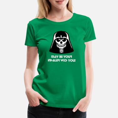 Dead Stag Asthma Dead Vader T-Shirts - Women's Premium T-Shirt