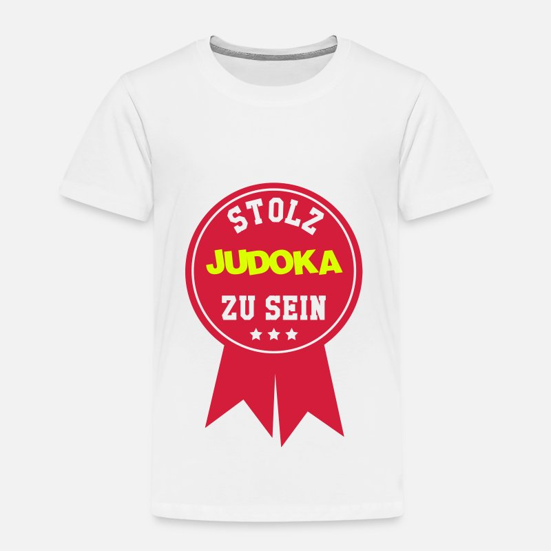 Judo Judoka Judokampferin Kampfsport Kampfer Kinder Premium T Shirt