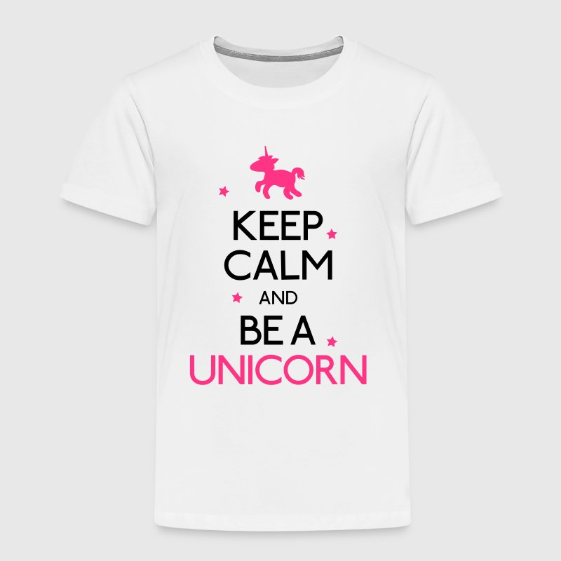 keep calm and be a unicorn - Kids' Premium T-Shirt