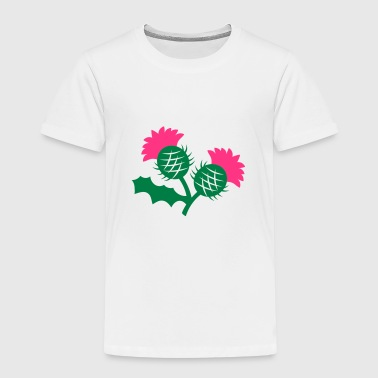 scottish thistle flower with two heads - Kids' Premium T-Shirt