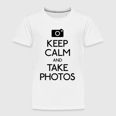 Keep Calm and take photos mantener la calma y tomar fotos - Camiseta premium niño