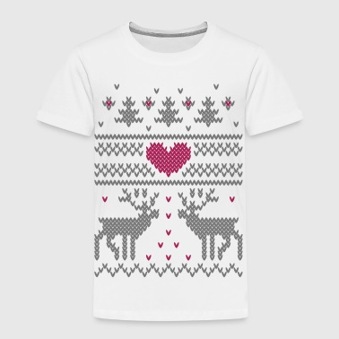 Vinter Strik Vector Heart - Børne premium T-shirt