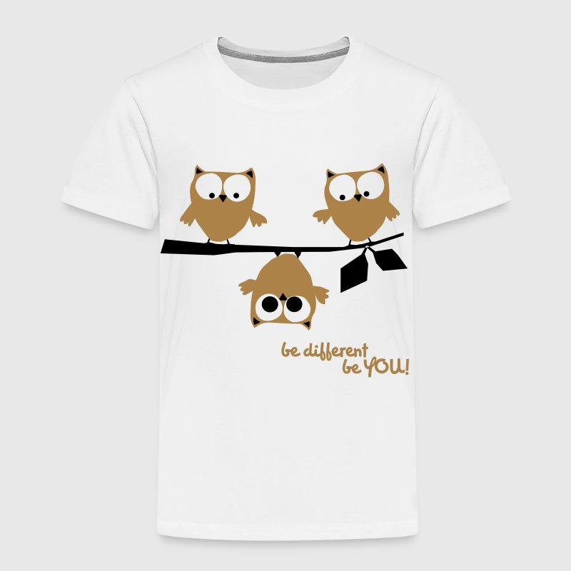 Eulen, lustig, be different, Vogel - Kinder Premium T-Shirt