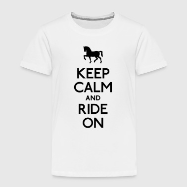 keep calm and ride on - Kids' Premium T-Shirt