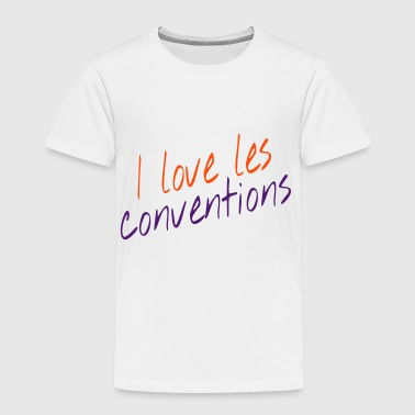 I love les conventions - Kids' Premium T-Shirt