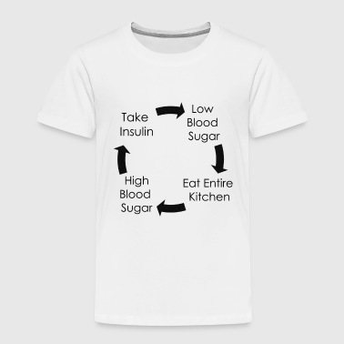 Cycle of Type 1 Diabetes - Black - Kids' Premium T-Shirt