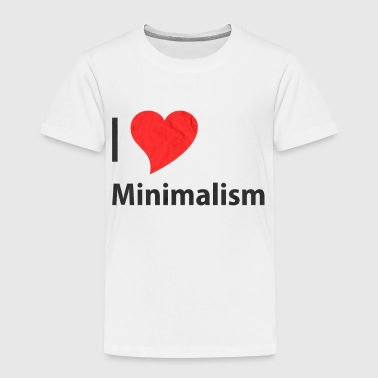 Minimalism Minimalism Statement Slogan Sayings - Kids' Premium T-Shirt
