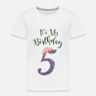 5th Birthday 5th birthday girl - gift 5th year old - Kids' Premium T-Shirt