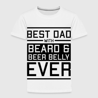 Best Dad Dad with beard and beer belly forever - Kids' Premium T-Shirt