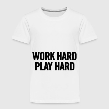 Work Hard Play Hard Black - Camiseta premium niño