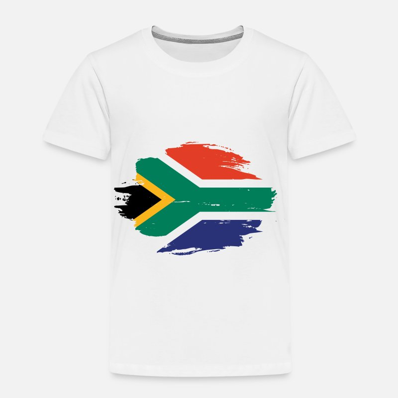 South Africa T-Shirts - home flag love origin south africa png - Kids' Premium T-Shirt white