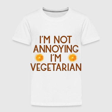 vegetarian vegan veggie orange apfelsine6 - Kinder Premium T-Shirt