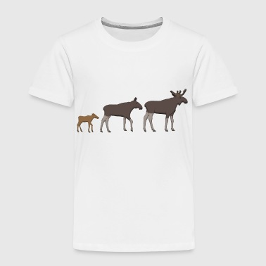 Moose family goes - Premium-T-shirt barn