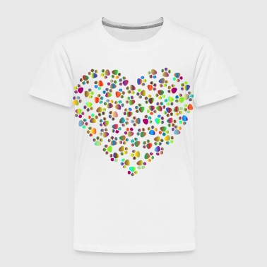 Soft Paw Paws cats heart - Kids' Premium T-Shirt