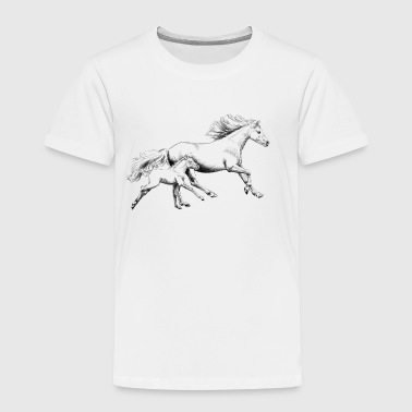 Mare with foal - Kids' Premium T-Shirt