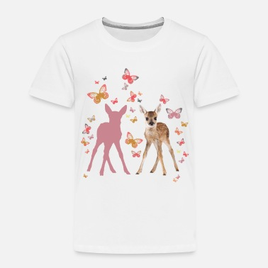 Butterfly Animal Planet Fawn And Butterflies - Kids' Premium T-Shirt