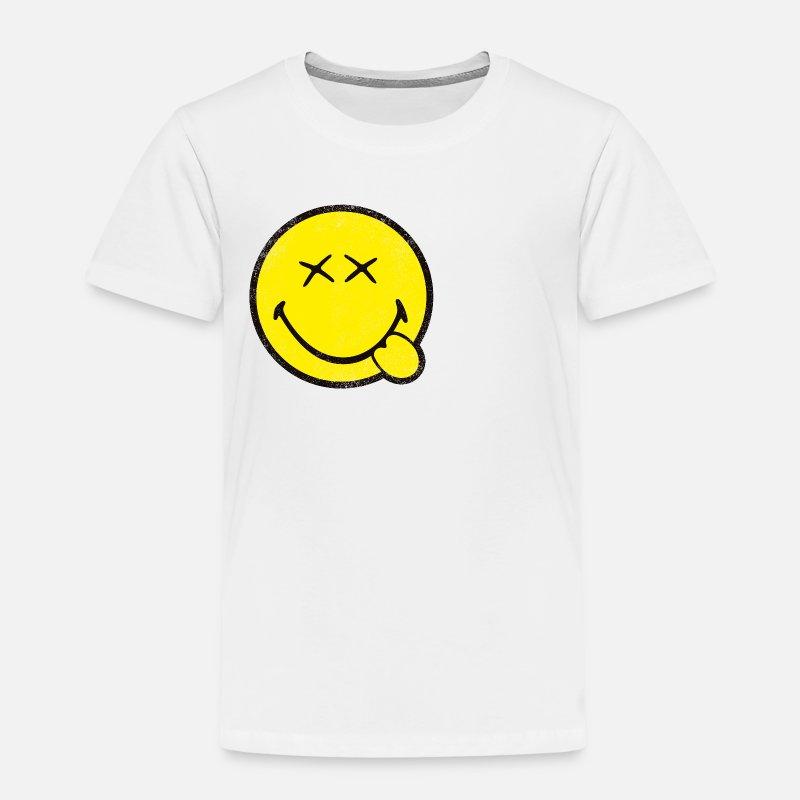 Smiley World Klassischer Smiley Used Look Frauen Hoodie von Spreadshirt®