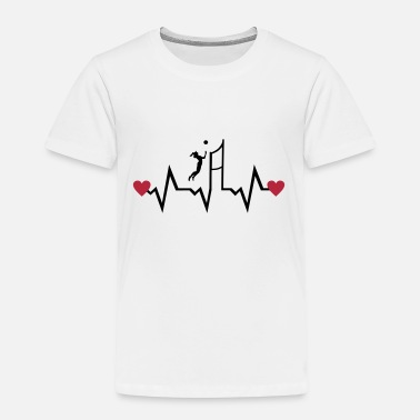 Volleyball Volleyball Player & Heartbeat, woman - Camiseta premium niño