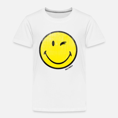 Lachend Smiley SmileyWorld Zwinkernder Smiley Used Look - Kinder Premium T-Shirt