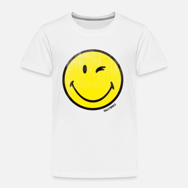 Smile SmileyWorld Zwinkernder Smiley Used Look - Kinder Premium T-Shirt