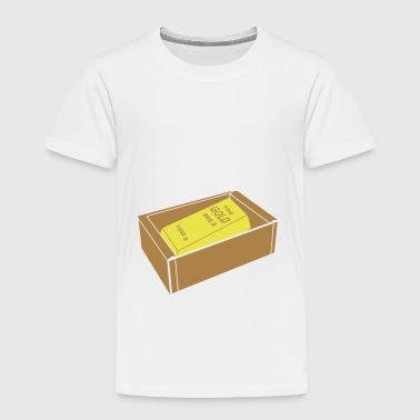 Box mit Goldbarren - Kinder Premium T-Shirt