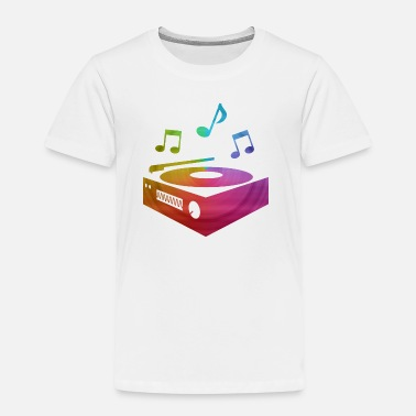 Vinyl Sheet colorful record player - Kids' Premium T-Shirt
