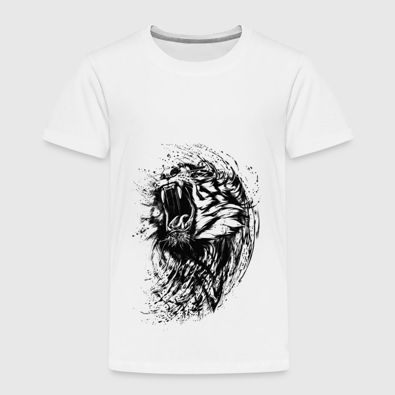 Tiger - Paint - Kinder Premium T-Shirt