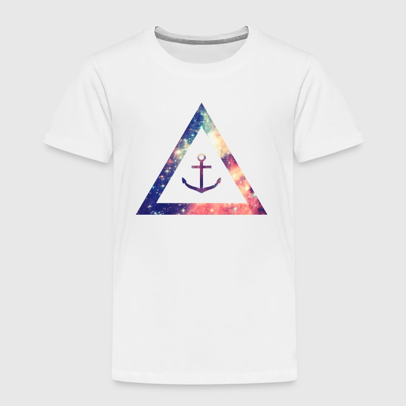 Galaxy / universe / hipster triangle with anchor - Camiseta premium niño