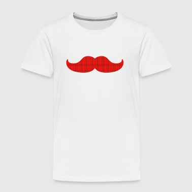 moustache tartan plaid bart tartan pledd - Premium T-skjorte for barn