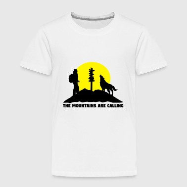 Hiking woman - The mountains are calling - Premium-T-shirt barn
