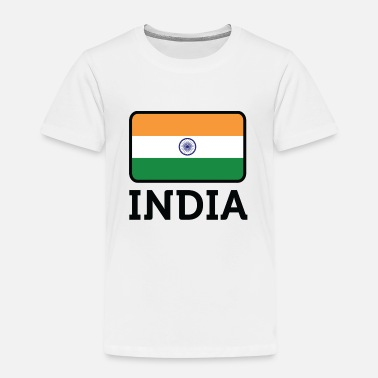 Indian National Flag of India - Kids' Premium T-Shirt
