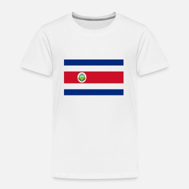 Costa Rica Nationale Vlag van Costa Rica - Kinderen Premium T-shirt