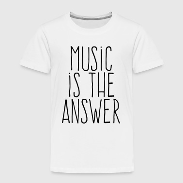 music is the answer - Premium T-skjorte for barn