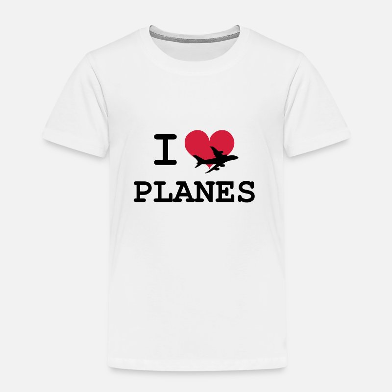 Airplane T-Shirts - I Love Planes [Pilot] - Kids' Premium T-Shirt white