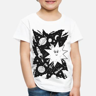 Black And White Collection Stella star for coloring - Kids' Premium T-Shirt
