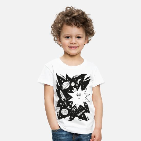 Black And White Collection T-shirts - Stella star for coloring - Premium T-shirt til børn hvid