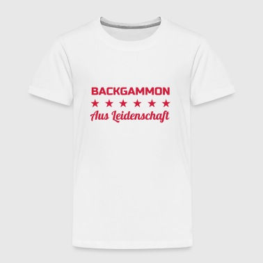 Backgammon / Kamper / spiller / geek - Premium T-skjorte for barn