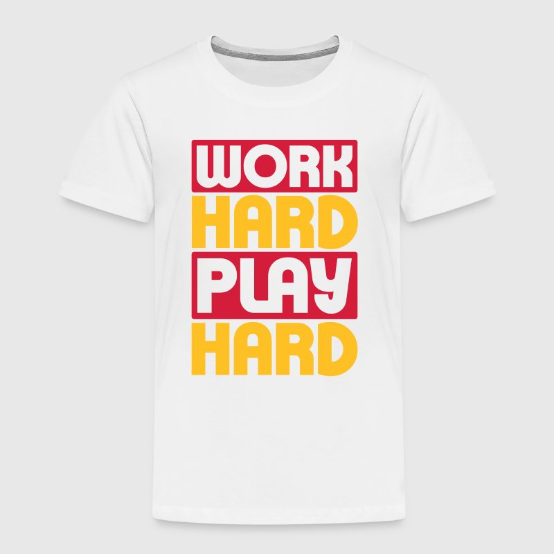 Work Hard Play Hard - Kids' Premium T-Shirt