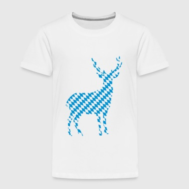 Deer, bavaria design - 1 colour - Kids' Premium T-Shirt