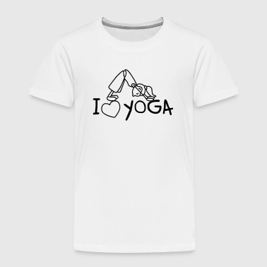 I love Yoga  - Kinder Premium T-Shirt