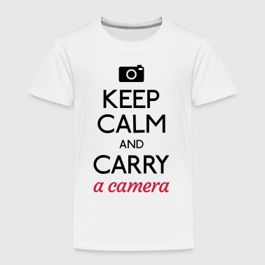Keep Calm And Carry On keep calm and carry a camera - Kids' Premium T-Shirt