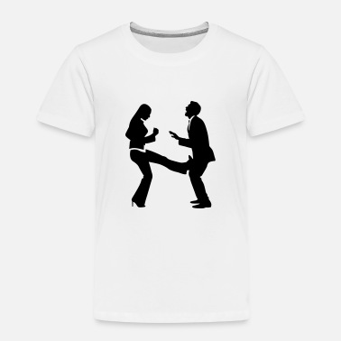 Strike Ball A woman strikes a manager in the balls - Kids' Premium T-Shirt
